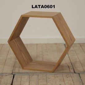 Lt Walnut Hexagonal Large Nest Table