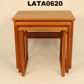Large Danish Teak Square Frame Nest Table