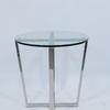 Chel 50cm X 50cm Steel & Glass Cross Base Lamp Table