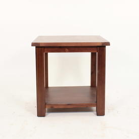Jri Acacia Dark Wood 2 Tier Lamp Table
