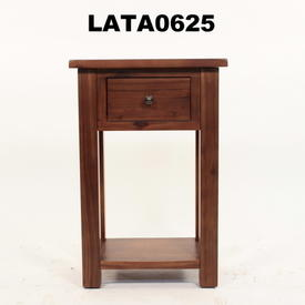 Jri Acacia Dark Wood 1 Drawer Telephone Table