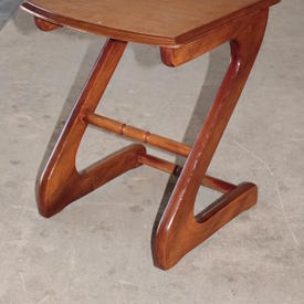 Small Teak Zorro Lamp Table