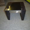 Vmf Gloss Blk Oak Lewis Med Nest Table With Blk Glass Inset