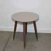 Grey Circ Lacq Splay Walnut Look Leg Gemma Vmf Lamp Table