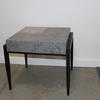 Sq Wenge Frame Faux Stone Vermont Vmf Lamp Table