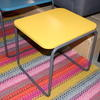 40 X 43 Cm Sq Grey Tubular Frame Yellow Top Side Table