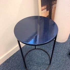 Circ Black Metal Frame Midnight Blue Ceramic Top Ant Nest Table