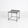 48 Cm X 50 Cm Black Mirror Top Daint Metal Frame Side Table