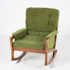 60's Danish Teak & Green Rocking Chair  (50s)