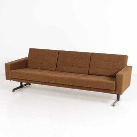 60's 2 Mte X 75cm Brown Fabric 2 Mte Dh5 Settee