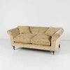 Faded Yellow Floral Patt Chesterfield Style Sofa On Castors