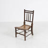Low Beeded Leg Rattan Seat & Back 'abc' Bedroom Chair