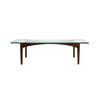 Danish Wood Coffee Table With Rect Glass Top (160cm X 64cm X 47cm H)