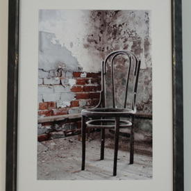 N.P Aged Grey Frame 'hermitage' Bentwood Chair Photograph (48 Cm X 66 Cm)