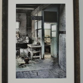N.P Burnished Grey Frame Pottery Clayside Office Photograph (83 Cm X 62 Cm)
