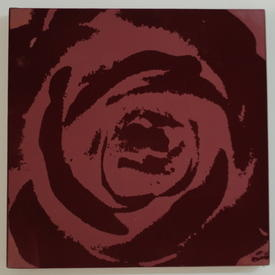 Burgundy Flock Square Rose Picture (76 Cm X 76 Cm) ((Flower))