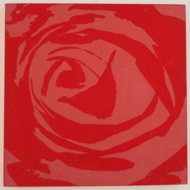 Red Flock Square Rose Picture (76 Cm X 76 Cm) ((Flower))
