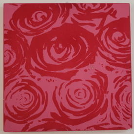 Pink Flock Square Roses Picture (76 Cm X 76 Cm) ((Flower))