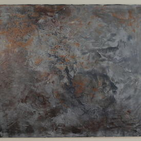 J.P Two Tone Textured 'ice' Abstract Painting (80 Cm X 100 Cm)