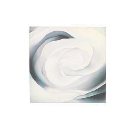 T.W Square Grey & White 'rose' Painting (76 Cm X 76 Cm) ((Flower))