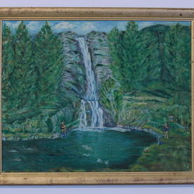 Gilt Framed Waterfall Painting (56cm X 46cm)