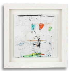 Bleached Wood Frame 'illumination Vii' Abstract Print (48 Cm X 48 Cm )