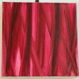 H.B Square 2 Tone Pink Brush Strokes Canvas (31cm X 31cm)