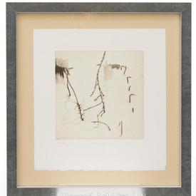 Black & Cream 'Moments Ii' Sketch in Ali Frame (55Cm X 55Cm)