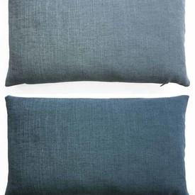 "Cushion 11"" x 19"" Horizon / Glacier Romo Linara"