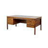 Rosewood And Black Top 50's Style Desk  (, Vintage)