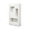 White Lacquer Cyrus Backlit Display Unit