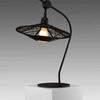 Black Woven 'carpa' Table Lamp