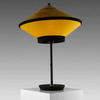 Black & Ochre Velvet 'cymbal' Table Lamp