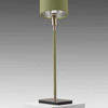 "Willow Green Leather & Satin Nickel ""Linea"" Table Lamp &"