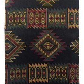 Bed Cover (K) Navy Warners Aztec Jacquard / Fringe