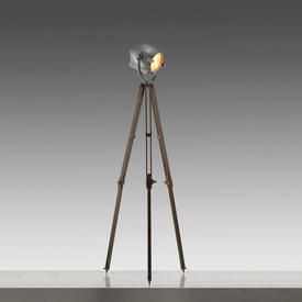 industrial Floor Lamp on Green Tripod Base