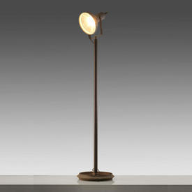 Extra Tall 2-Tone Aged Metal industrial Spot Light