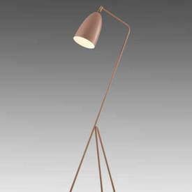 "Vintage Pink ""Grasshopper"" Tripod Floor Lamp"