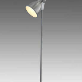 Aluminium Stirrup Floor Light with Etched Glass