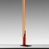 "Orange & Oak ""High Line"" Floor Lamp On Black Base"