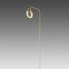 Champagne Gold 'hole' Floor Lamp On Oval Base