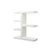 """White Lacquer """"Chanel"""" Open Ended Shelf Unit ( H: 138cm W: 120cm D: 40cm )"""