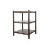 Bronze Iron 3 Tier 70 Cm Sq. X 95 Cm H Shelving Unit  (, Vintage)