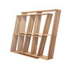 Oak Four Position Infinty Shelf Unit