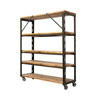 Dexion & Wood 153 Cm X 176 Cm Shelving Unit On Castors