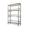 Grey Scaffold Pole & Wood Shelving Unit