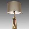Brass & Wood Mid Century Table Lamp