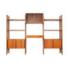 Light Wooden 3 Part Shelving Unit