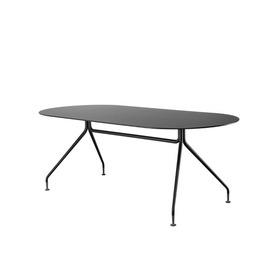 "Matt Black ""Occo"" Oval Desk on Black Legs"