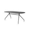Matt Black 'occo' Oval Desk On Black Legs (200cm X 90cm X 74cm H)